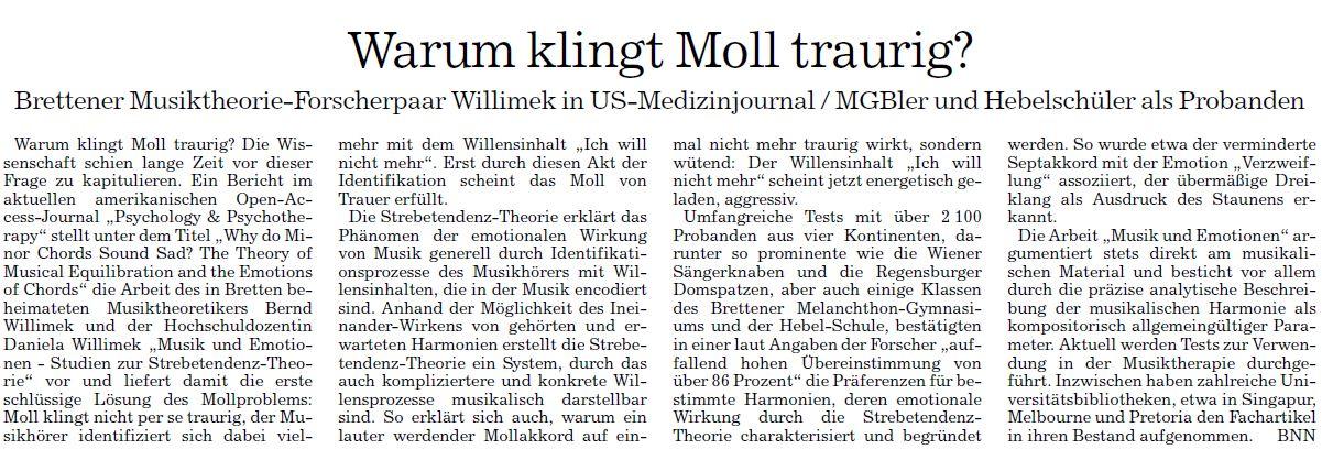 Pressestimmen Strebetendenz-Theorie   willimekmusic